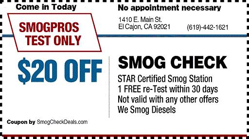 $20 Smog Check Coupon - STAR Station, Pass Smog Today